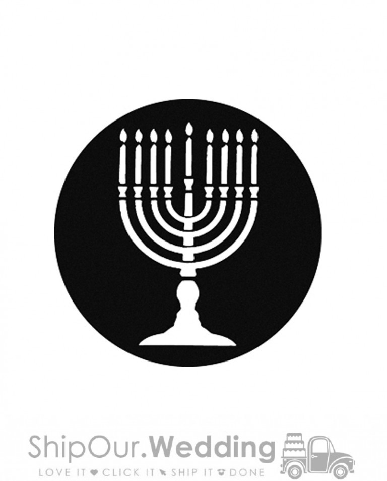 steel gobo menorah