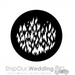 steel gobo breakup fire flames