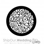 steel gobo curly art