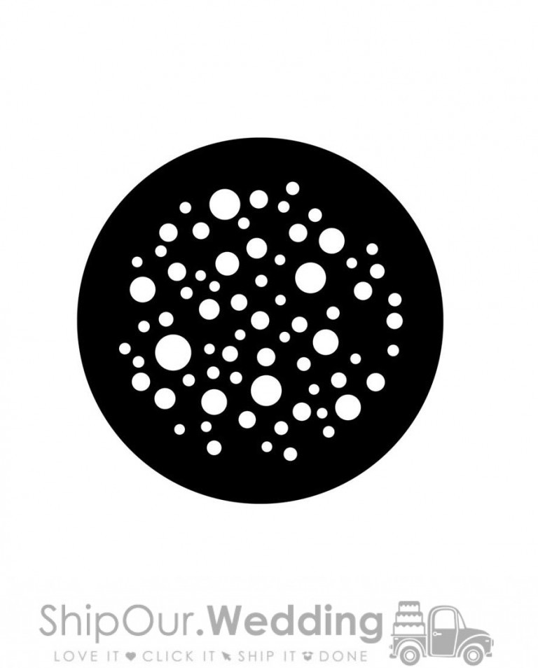 steel gobo dots medium