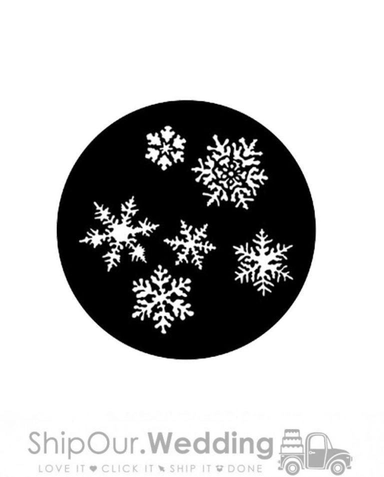 steel gobo snowflakes