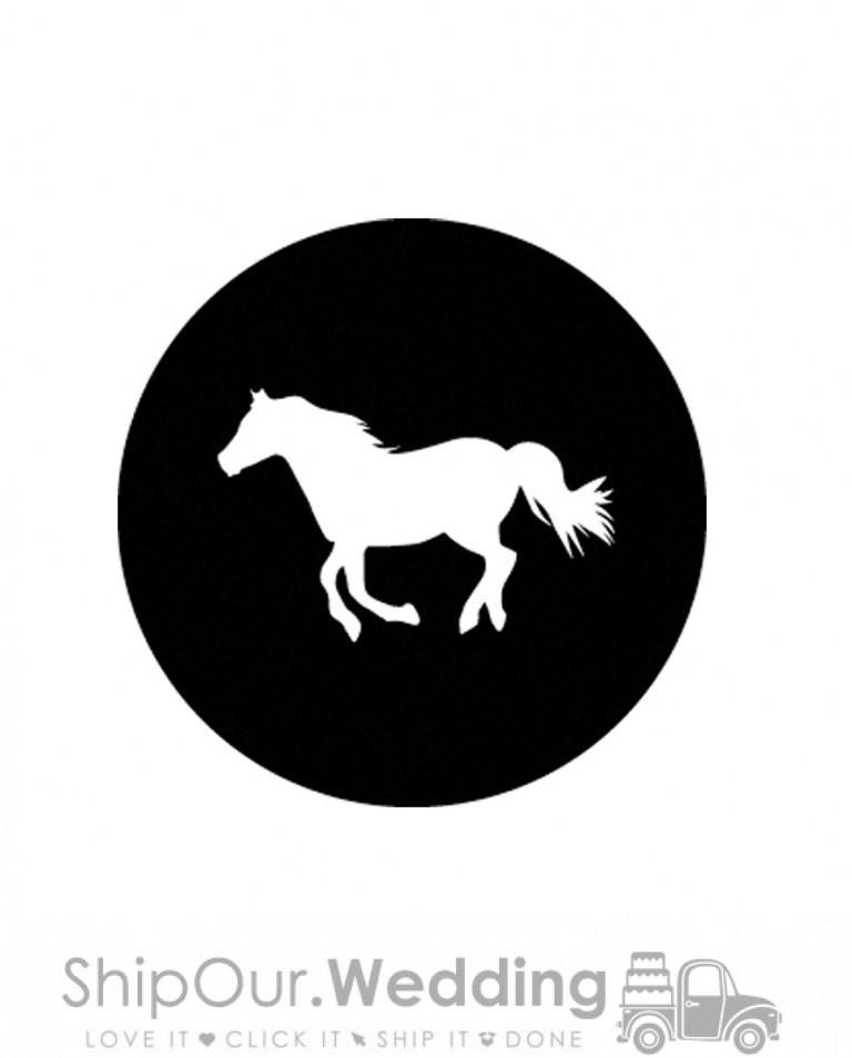 steel gobo running horse