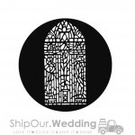 steel gobo stained glass window