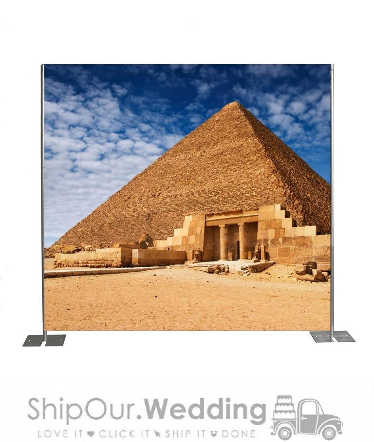 Giza pyramid step repeat backdrop