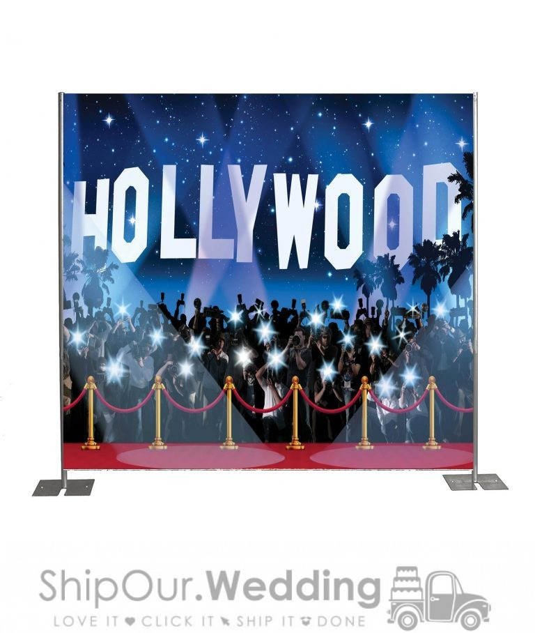 Hollywood step repeat backdrop