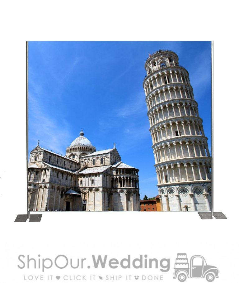 leaning tower pisa step repeat backdrop